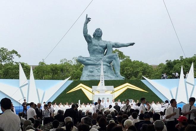 平和祈念式典の様子