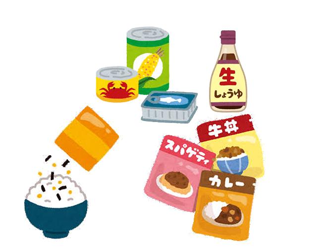 寄付いただきたい食品のイメージ