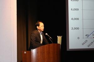 「フードバンクちば」菊地代表より、フードバンクの活動紹介がありました