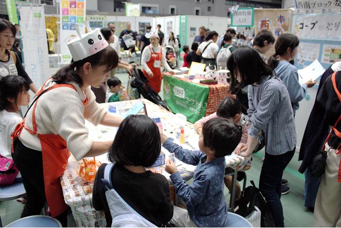埼玉エリアのブロック委員会による出展ブース(地域を豊かにゾーン)の写真