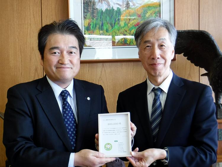 箱石常務と赤松理事長の写真