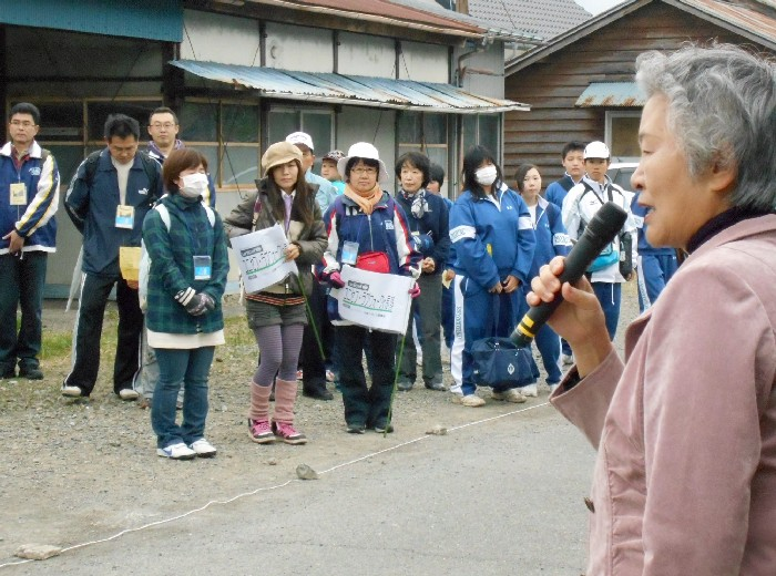 スタート地点では長瀞町・大澤タキ江町長からご挨拶いただきました
