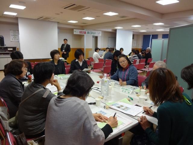 地域ごとの分散会では9グループで活発な交流がおこなわれました