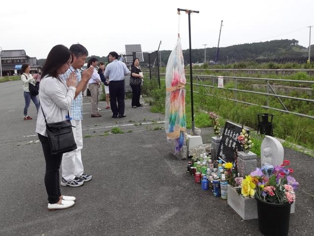震災犠牲者のご冥福をお祈りしました