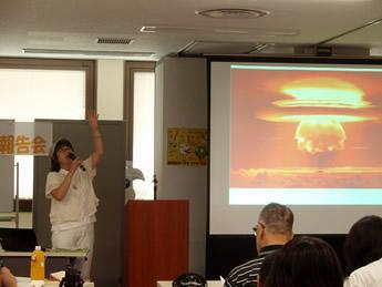 市田さんによる講演の写真